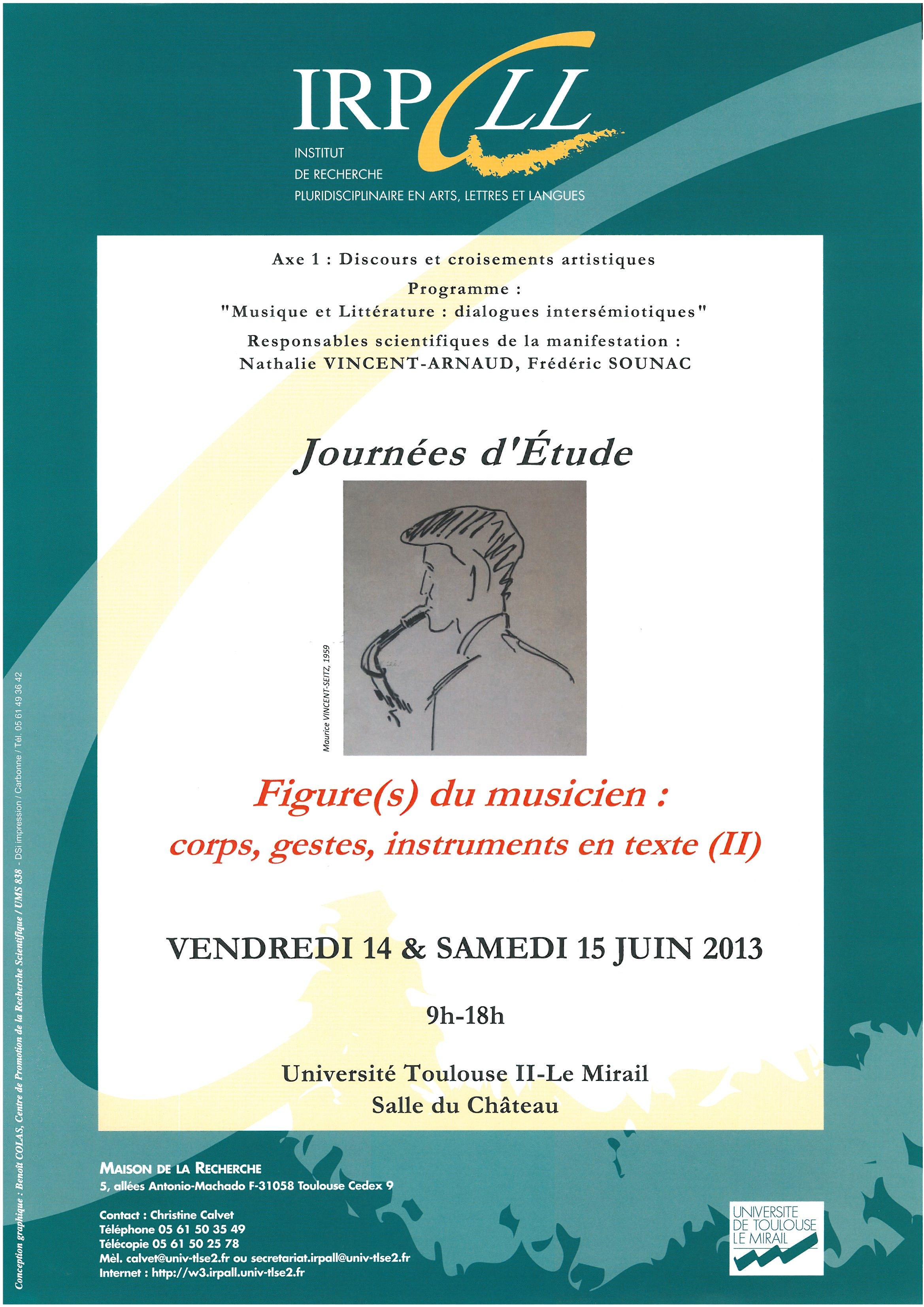 affiche figures du musicien axe 1 musique et littérature